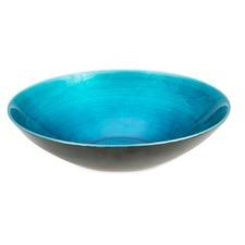 35cm Bowl in Aqua Fading