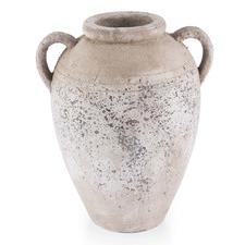 Distressed Ceramic Amphora Vase