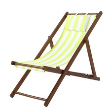 Striped Foldable Beach Chair & Pillow