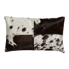 Small Rectangular Block Cow Hide Cushion