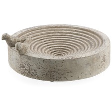 Round Cement Bird Feeder