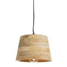 Mango Wood & Aluminium Pendant Light