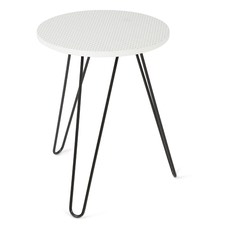Britt Geo Side Table with Iron Legs