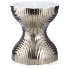 Greyson Aluminium Hourglass Stool