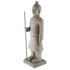 Garden Stone Standing Warrier Statue