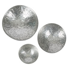 Aluminium Antique Wall Bowls (Set of 3)