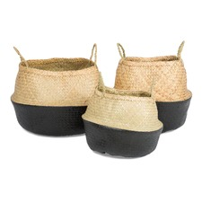 Foldable Grass Baskets (Set of 3)