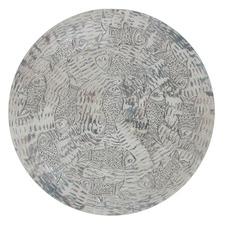 Aluminium Antique Round Fish Wall Art
