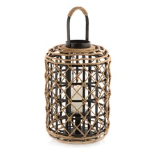 Rope Lattice Lantern On Wood
