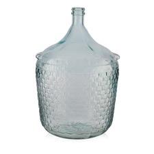 Large Recycled Glass Basket Bottle Vase