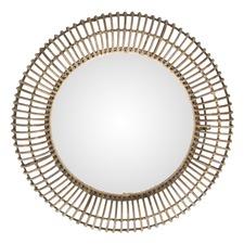 Plutorattan Round Mirror