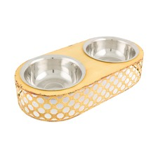 Iron 2 Bowls Cat Bowls On Stand