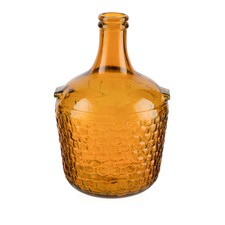 Small Recycled Glass Basket Bottle Vase
