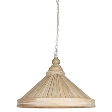 Large Hamptons Wood Pannel Pendant Antique Light