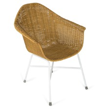 Natural Honey & White Diego Rattan Armchair