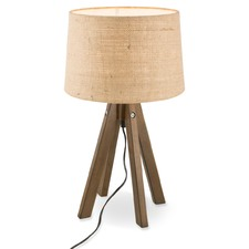 Paris Wooden Tripod Table Lamp with Jute Shade