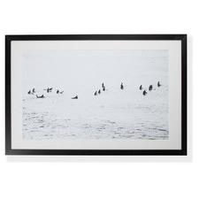 Mono Surfers Framed Printed Wall Art