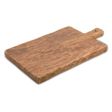 Rectangular Acacia Wood & Leather Chopping Board