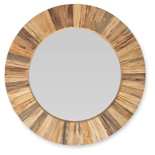 Round Arbor Wood Mirror