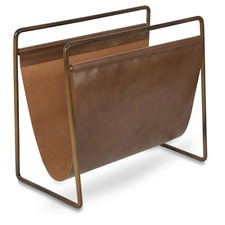 Tan Leather Magazine Holder