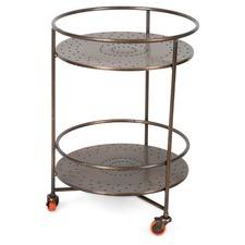2 Shelf Iron Bar Cart