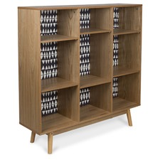 Monochrome Adjustable Wooden Bookcase