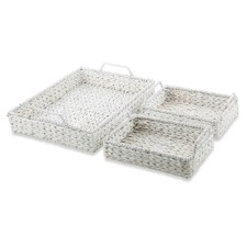Water Hyacinth Hampton Nesting Trays (Set of 3)