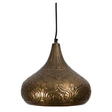 Marrakesh Embossed Dome Pendant Light