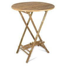 Bamboo Table with Umbrella Hole