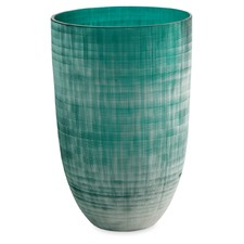 Glass Aqua Frosted Vase