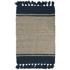 Natural Asmita Jute Handloom Floor Mats With Tassels