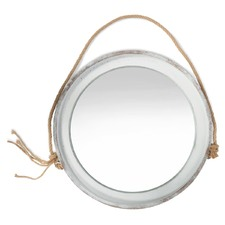 Kona Round Hanging Mirror With Rope