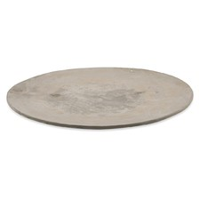 Raw Cement Round Candle Plate