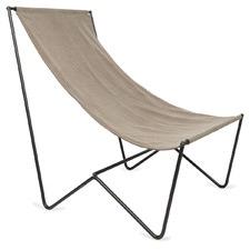Light Grey Kiyo Cotton Slouch Chair