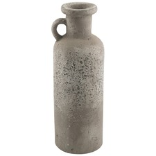 Raw Natural Terracotta Bottle Vase