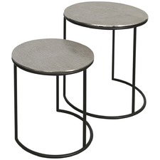 Bromley Aluminium Set Of 2 Round Nesting Tables