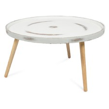 Large Round Concrete Coffee Table