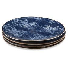 Set of 4 Assorted Porcelain Dinner Plates