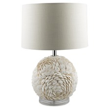White Rounded Shell Layered Lamp