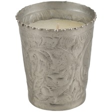 Sahil Small Vanilla Scented Candle In Polished Silver Metal Votive