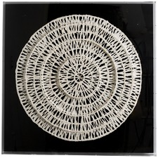Square Acrylic Box Round Paper Art