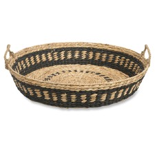 Natural & Black Haydee Water Hyacinth Extra Large Basket
