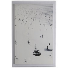 Black & White Saly Little Bathers In Acrylic Box
