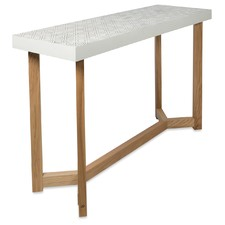 Distressed White Maui Console Table