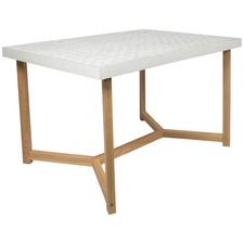 Distressed White Maui Dining Table