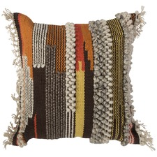 Orange Arizona Hand Woven Cotton Wall Cushion