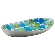 Aluminium Multi Circle Dot Design Large Oval Platter