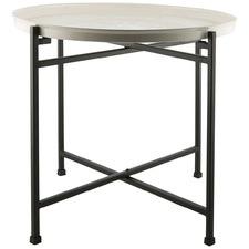 Small Iron Enamel Tray Side Table