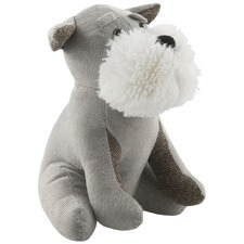 Grey Rufus The Dog Polyester Door Stopper