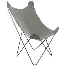 Dark Grey Akemi Cotton Butterfly Chair